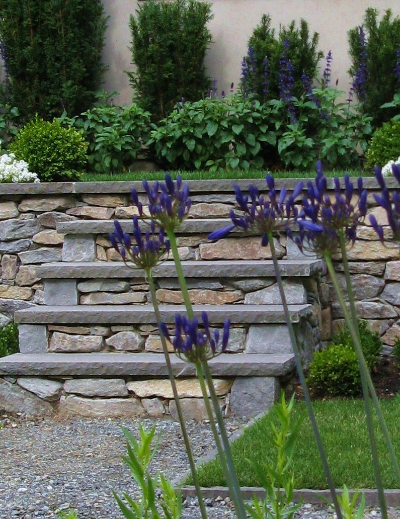 Custom stone stairs