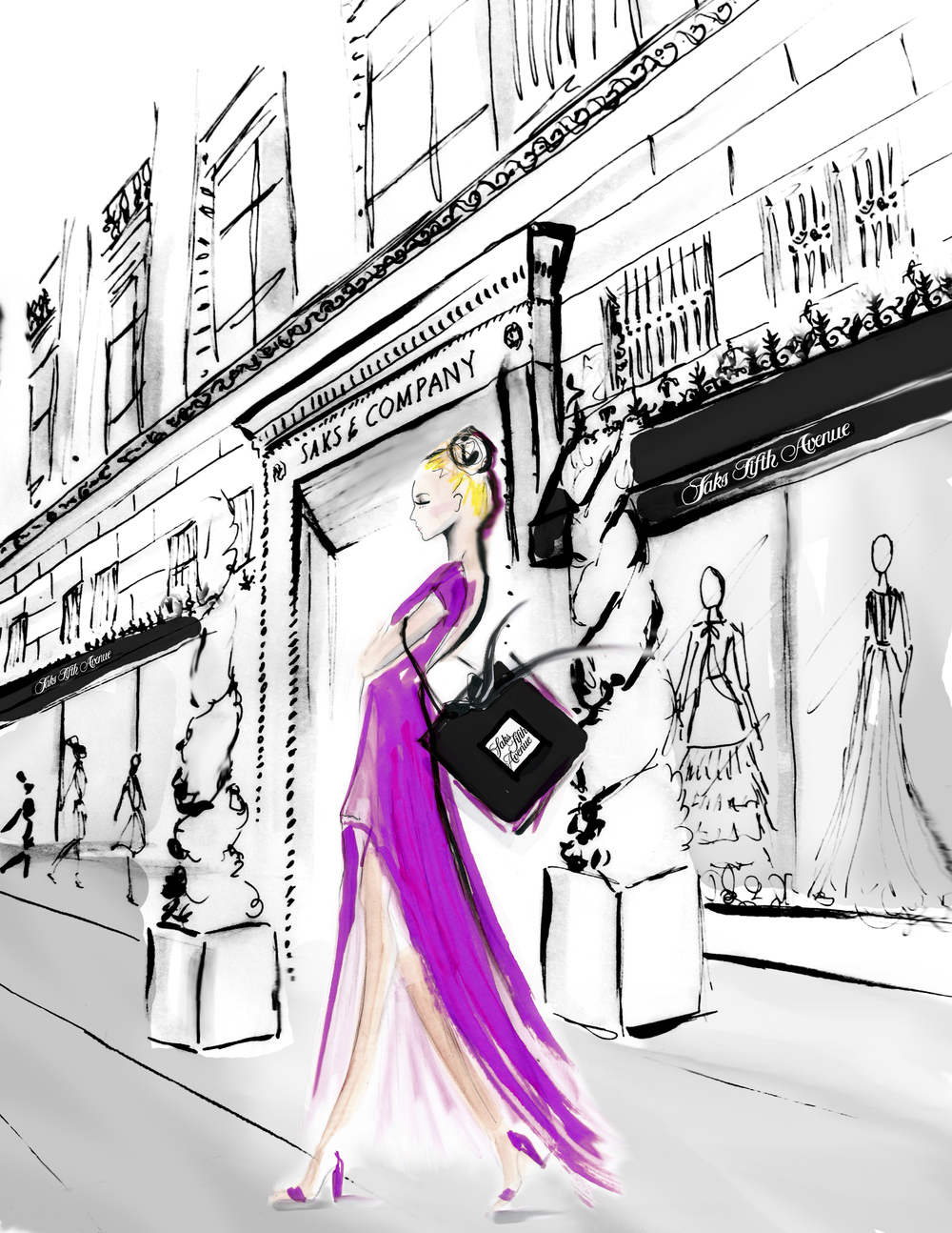 Shopping at Saks by Deanna First