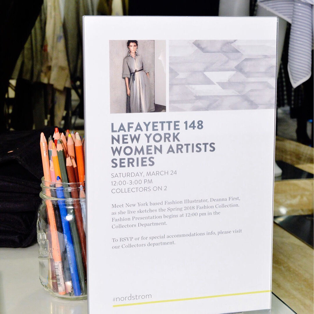 Deanna First live sketch_Lafayette148ny women artist series.jpg