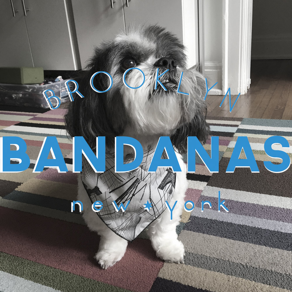 Yes...Brooklyn Bandanas are for dogs too!  Mikie loves his Wiry Wires Bandana!