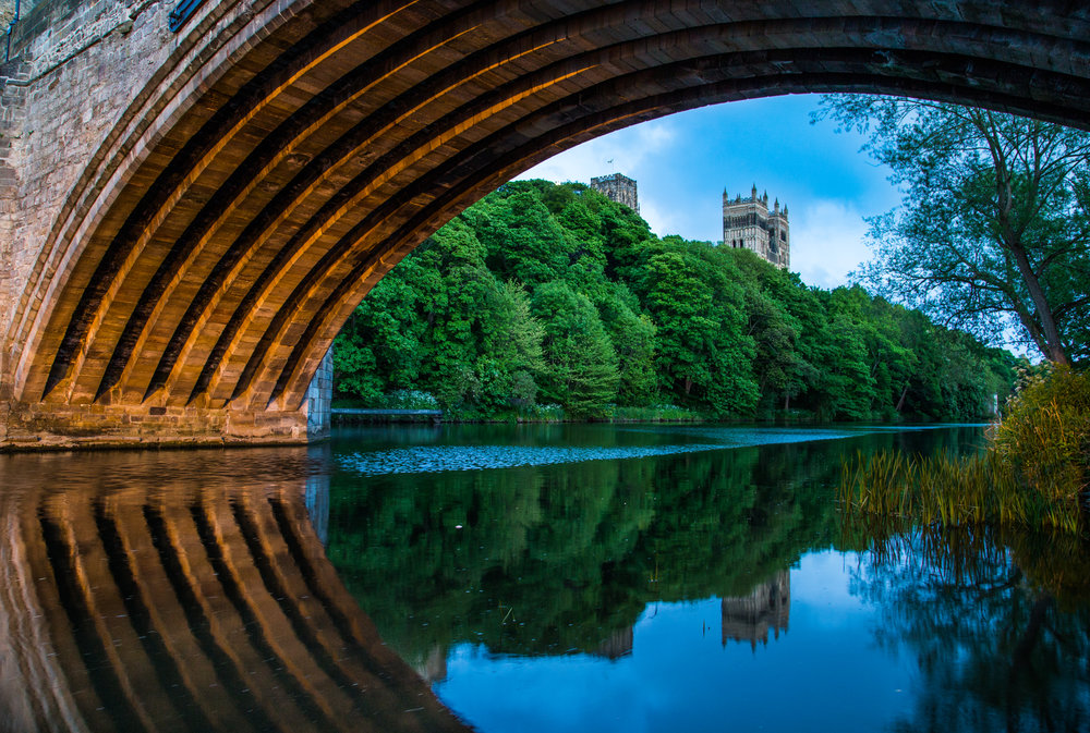 Framwellgate Bridge Cathedral Dusk.jpg