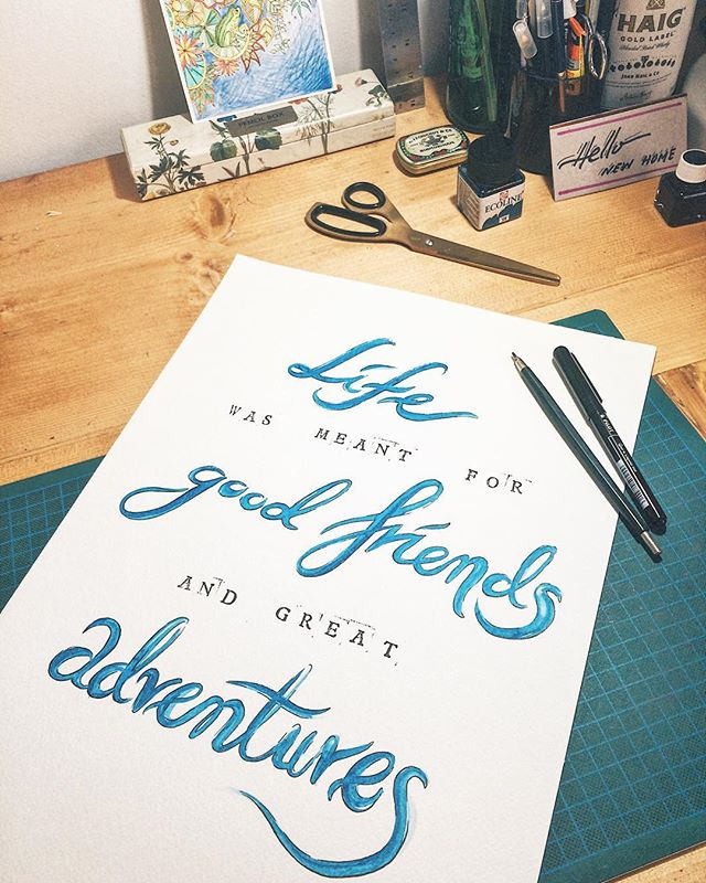 Making goodbye cards for good friends is always bittersweet... #giftforfriend #cardmaking #letteringnewbie #inkstagram