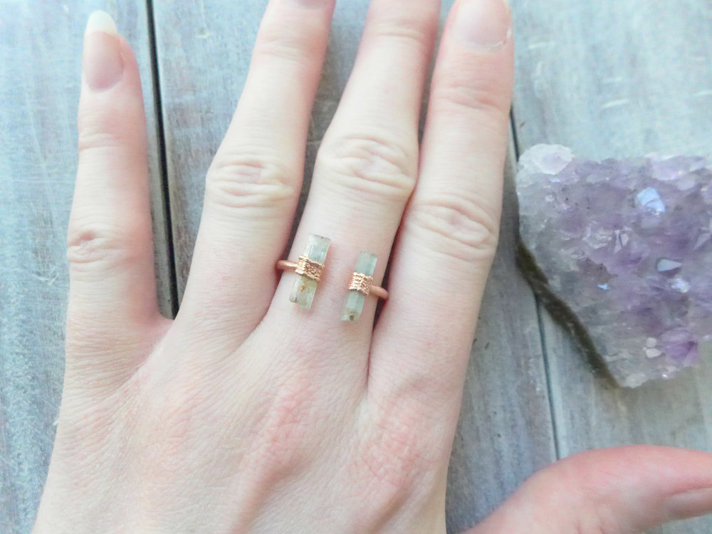 Jewelry Tutorial How To Make A Copper Electroformed Gemstone Open Ring