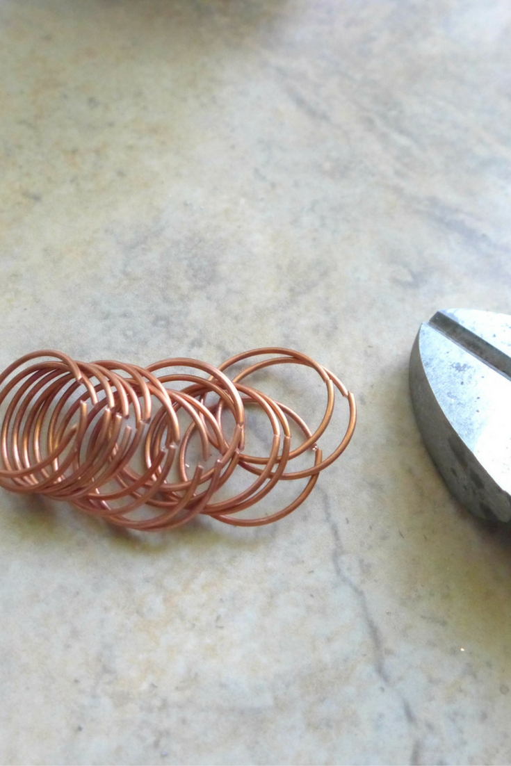Cut Wire Spiral Vertically | How To make Ring Blanks by MakerMonologues.com