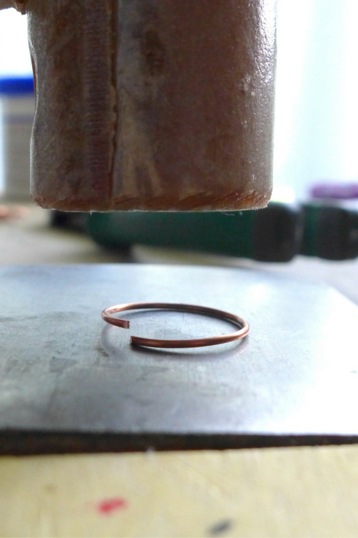 Hammer Ring Shank Flat | How To Make Ring Blanks by MakerMonologues.com