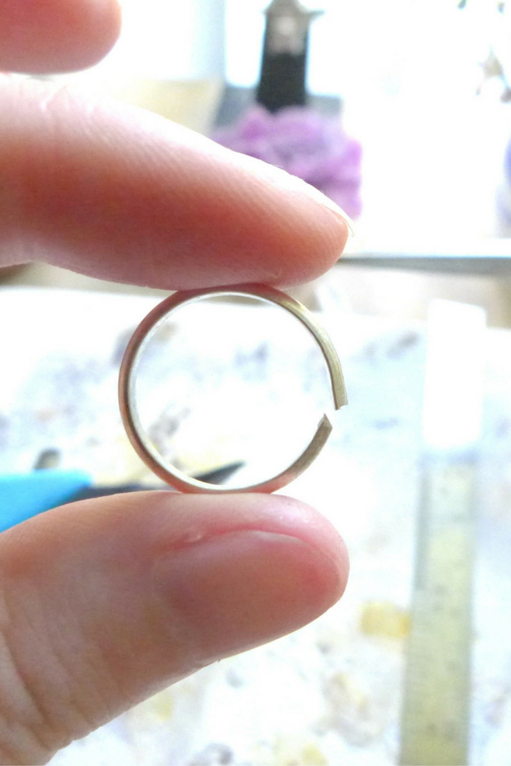 Formed A Silver Ring