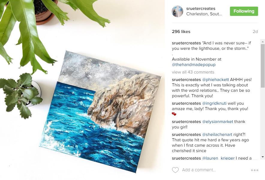 Samantha Rueter Ocean Painting