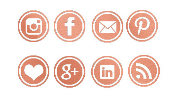 Rose Gold Social Media Icons
