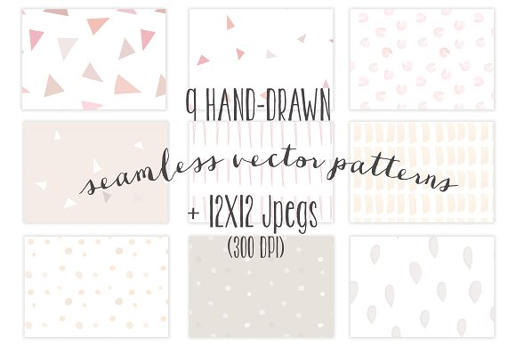 Seamless Hand-Drawn Patterns