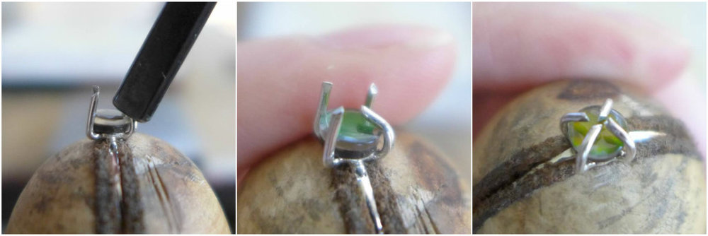 Setting Stone In Prongs | How To Make A Prong Setting Ring