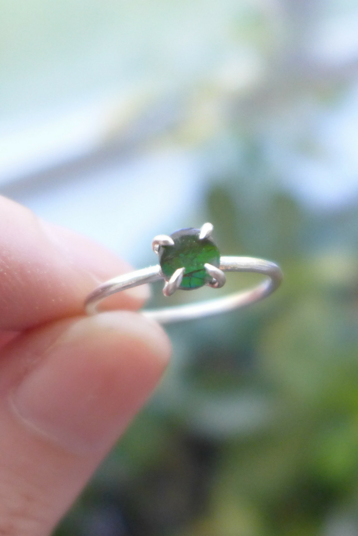 Ammolite Prong Setting Ring | How To Make A Prong Setting Ring