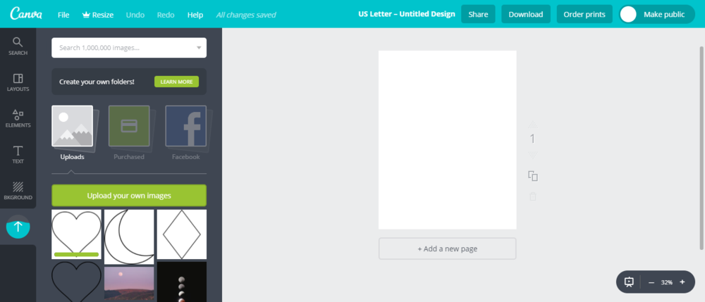 Upload Images to Canva