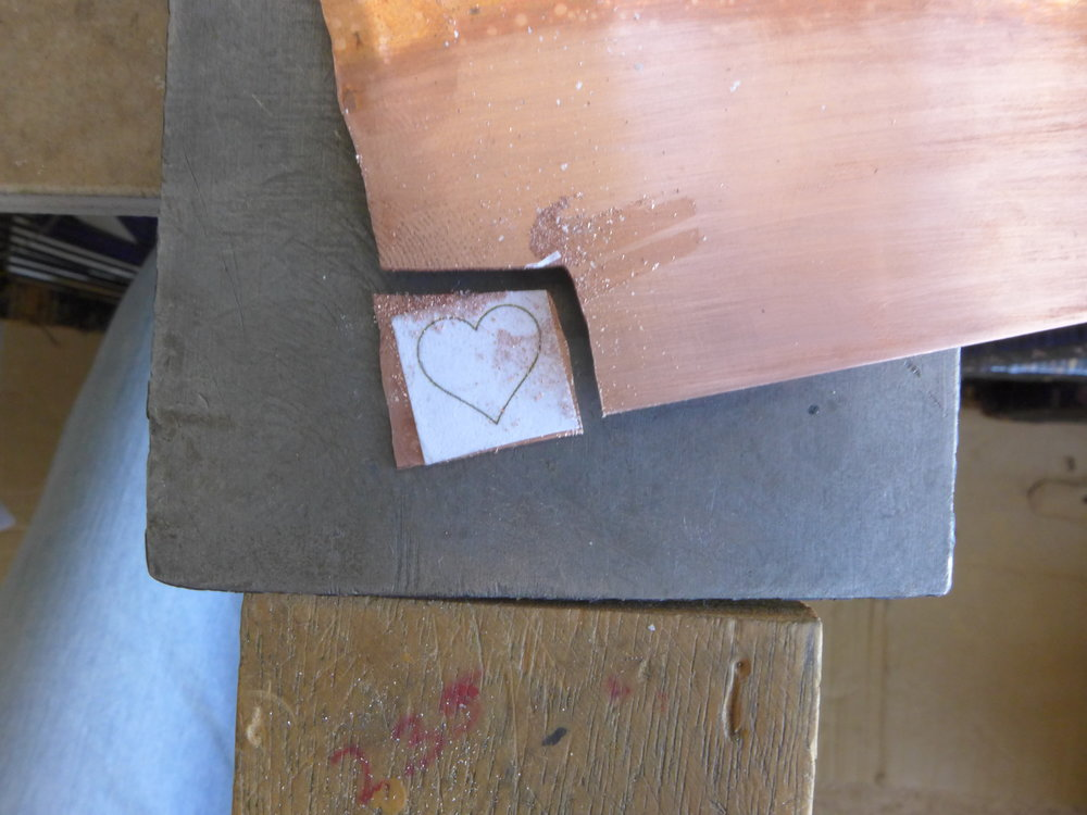 Sawing a Copper Heart