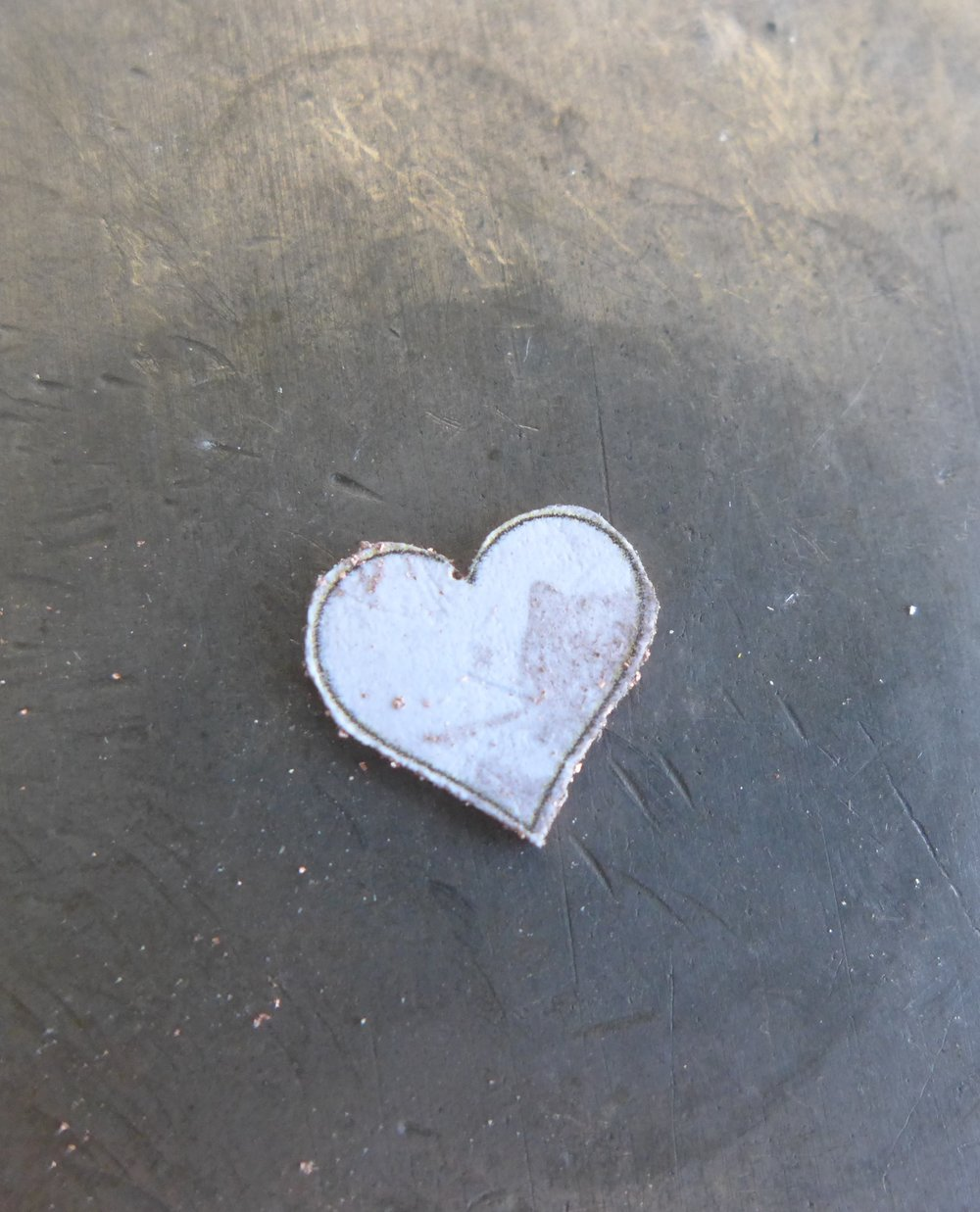 Sawn Out Copper Heart