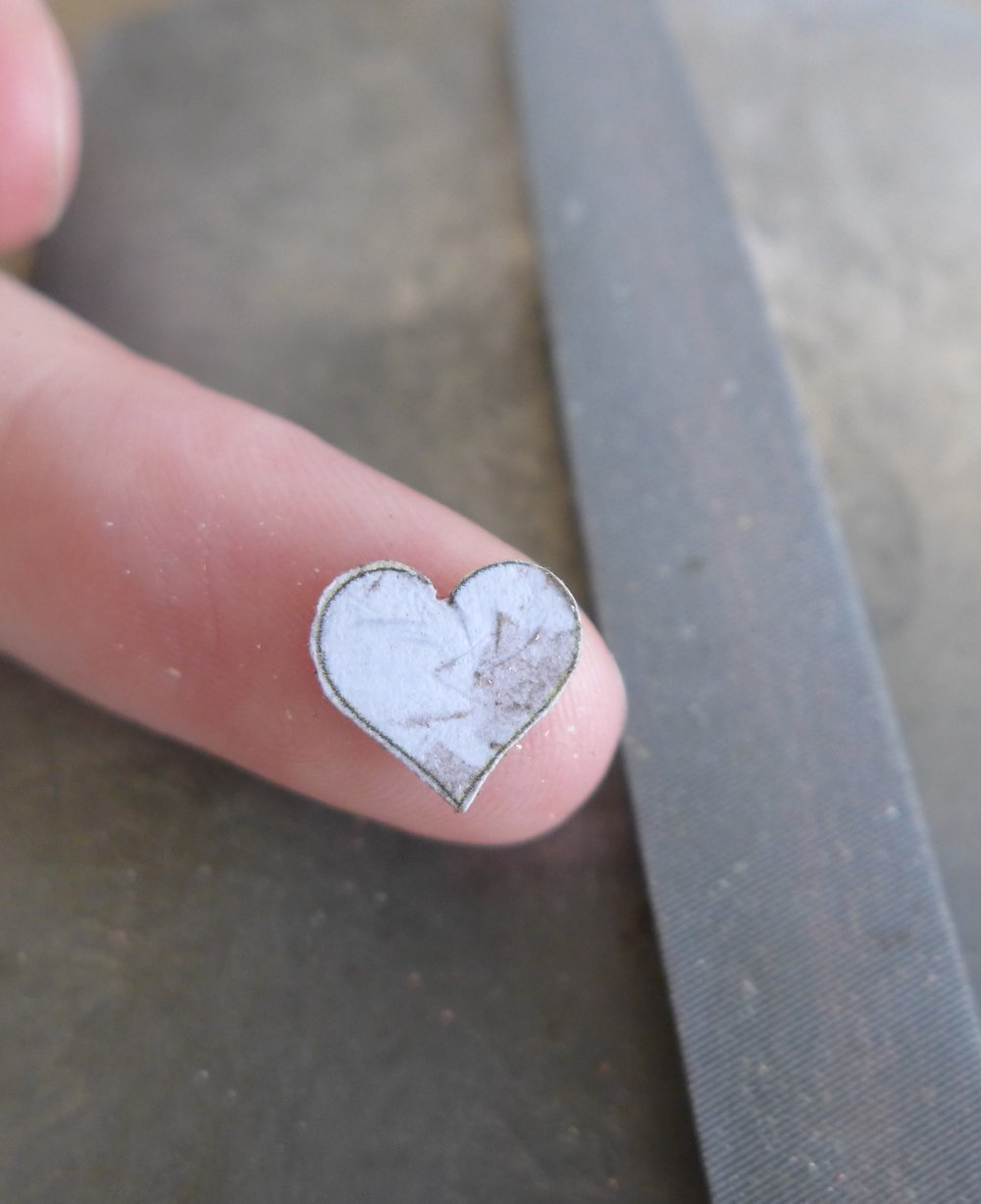 Half Filed Metal Heart