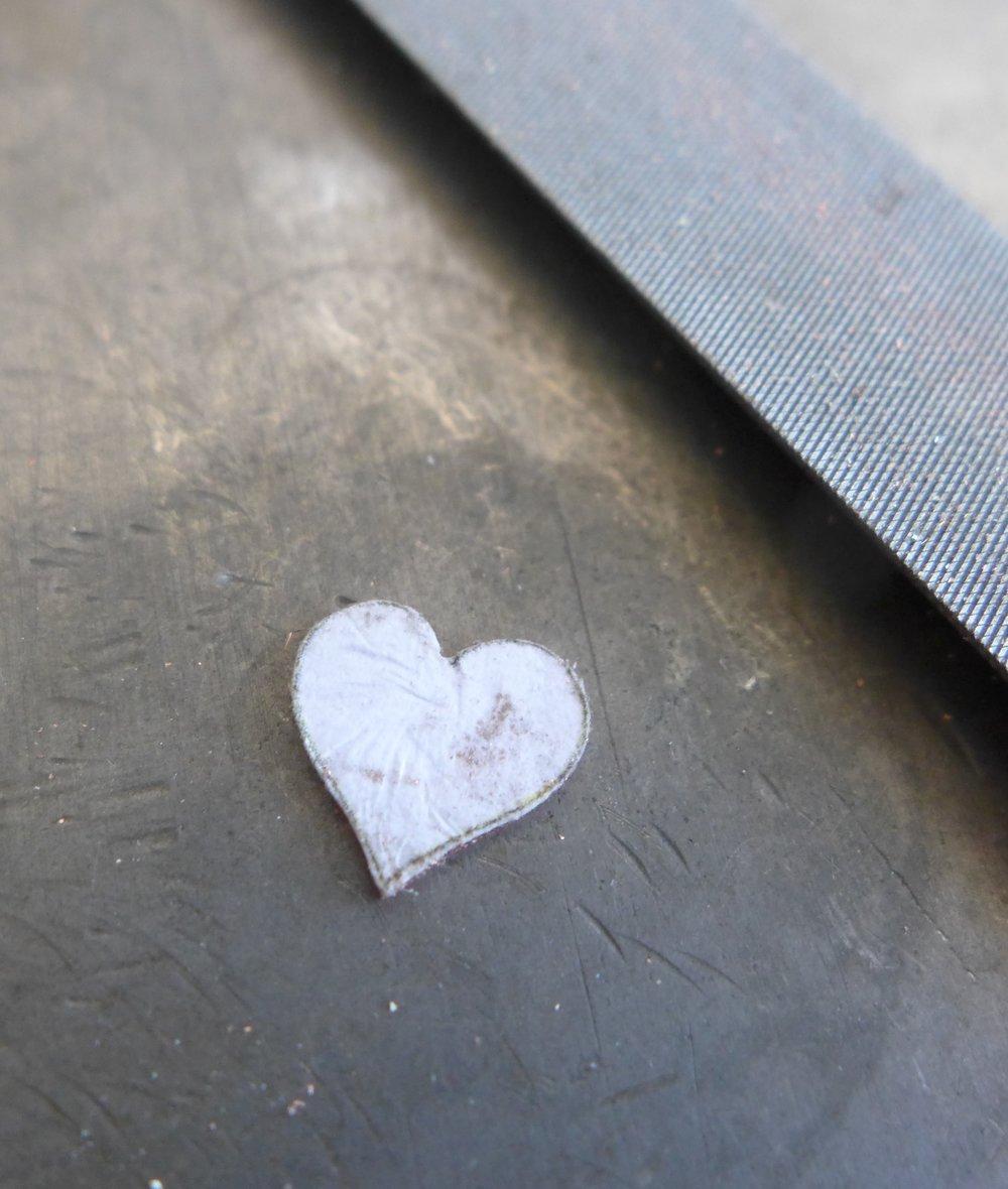 Copper Metal Heart Shape