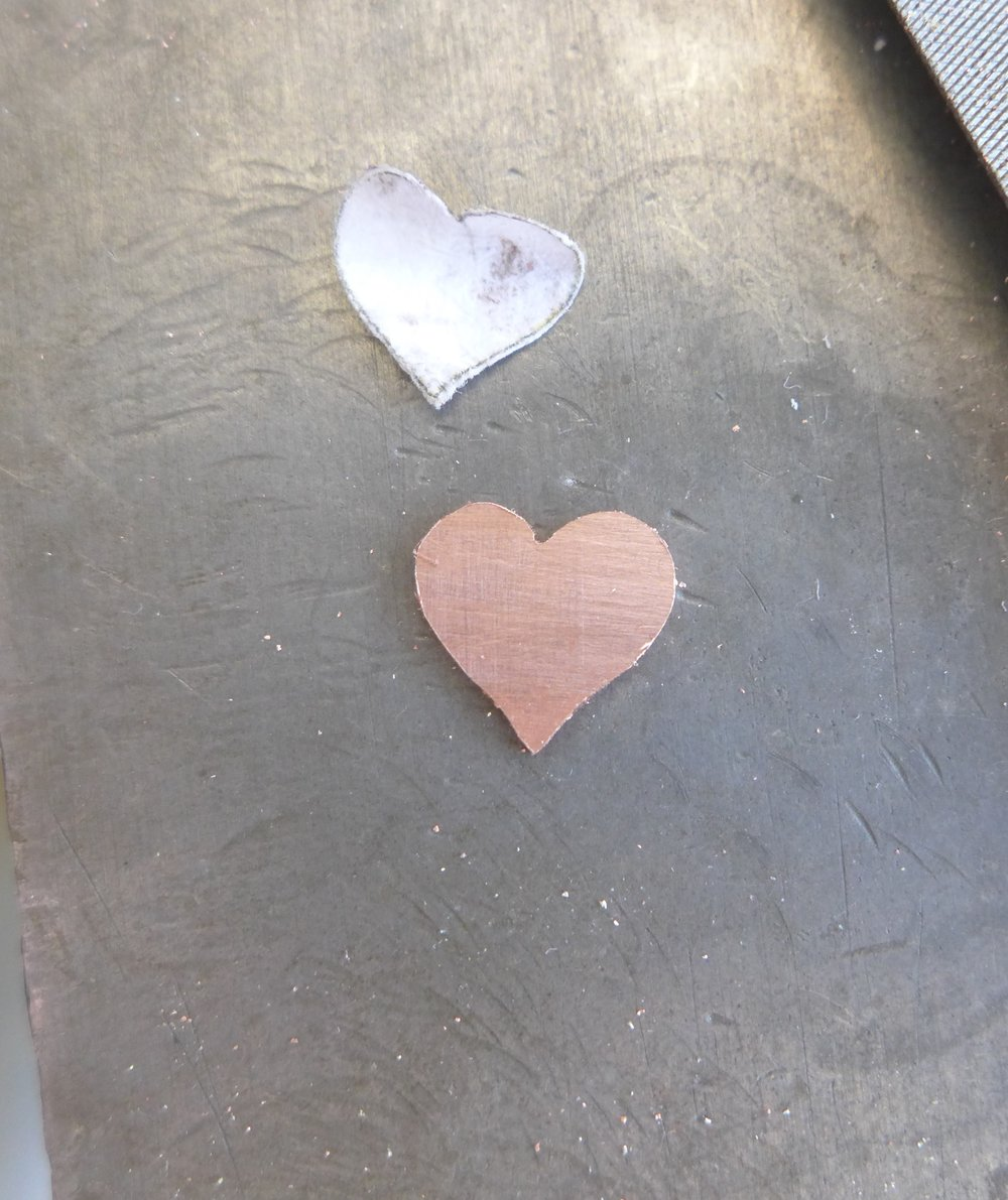 Shiny Copper Heart