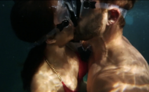 "(Kissing in ""space"" and now underwater! They've done it all!)"
