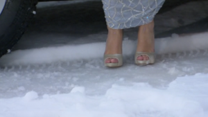 (I'm guessing those aren't proper snow shoes)