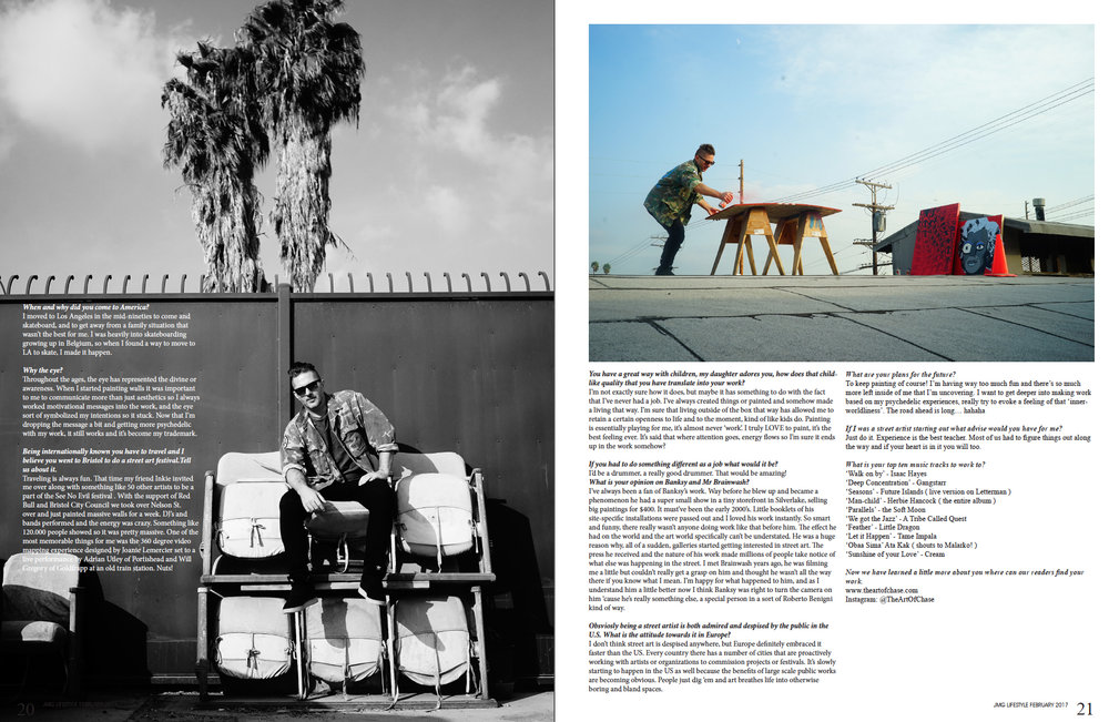 February, 2017 // Q & A with Jason Stanton for Los Angeles based JMG Magazine. Photos by Teren Oddo.