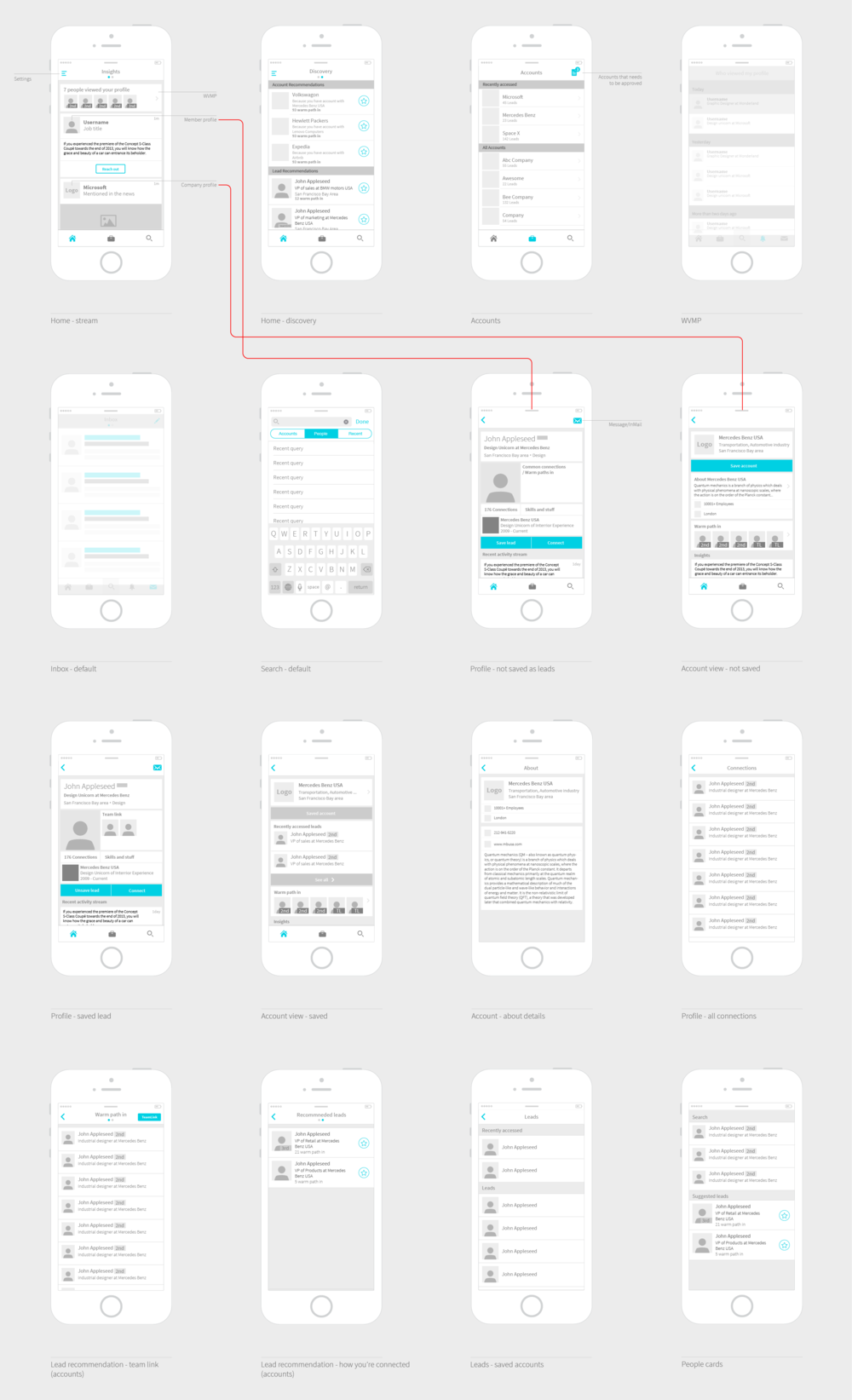 One of the many wireframes we did before adding pixels (click to view full image)