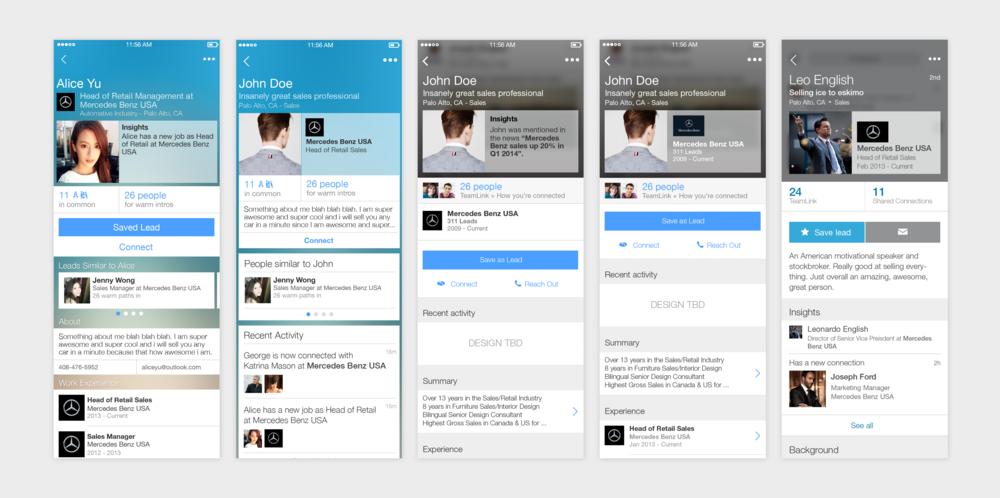 >>> The evolution of a profile design >>>