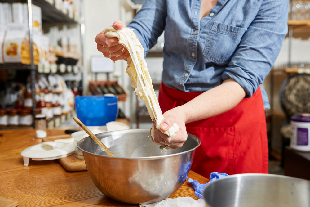 Hand-Pulled Mozzarella
