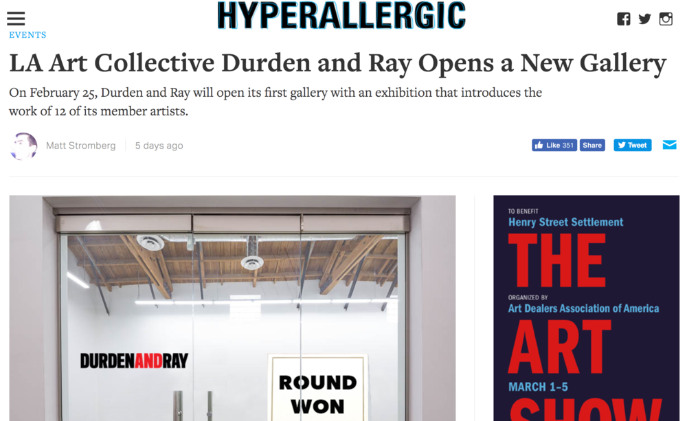 Check out our article in HYPERALLERGIC Magazine