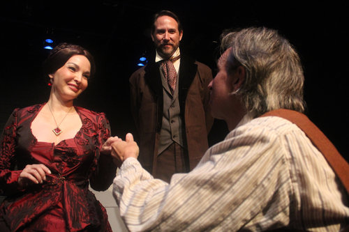 (L-R) Therese Olival, Rob Duval, and Paul Mitri in MVT's 'The Elephant Man'.