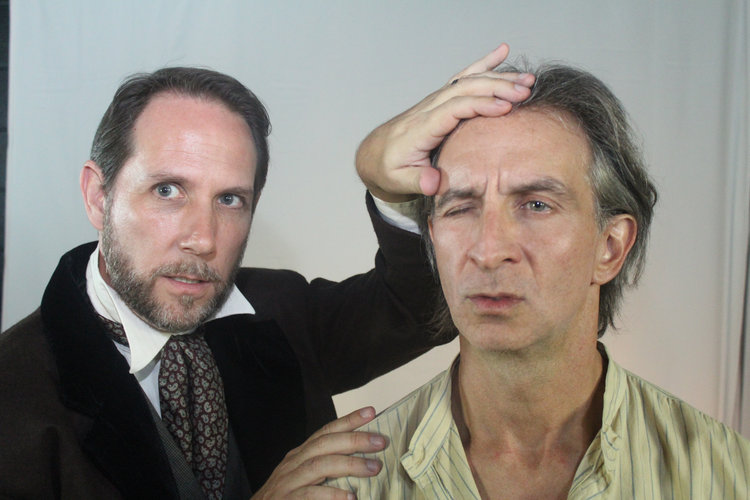 (L-R) Rob Duval and Paul Mitri in MVT's 'The Elephant Man'.