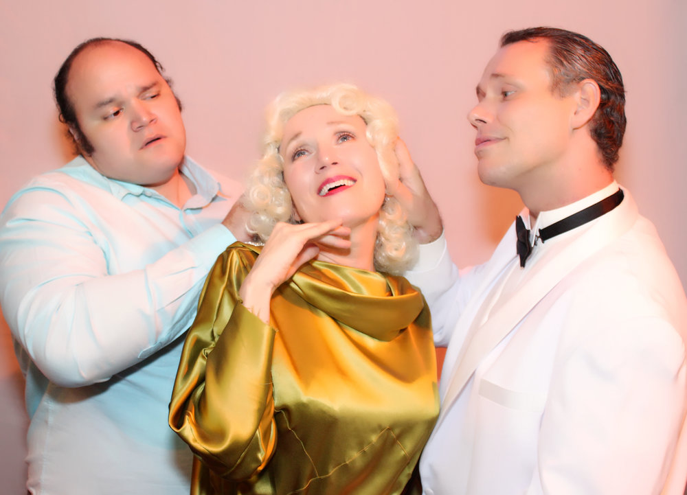 LeGrand Lawrence, Amy Sullivan, and Alan Shepard in MVT's  Stage Kiss .