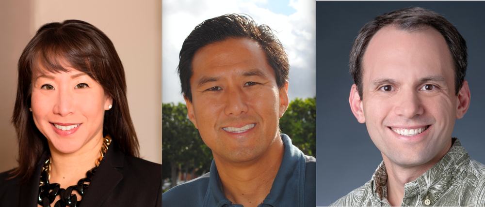 Newest members on HTY's Board of Trustees: Cara Nakamura, Greg Uyematsu, and Jeffrey Pauker.