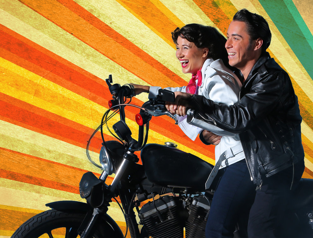 Sarah Halford and Kaimana Ramos in Diamond Head Theatre's All Shook Up. Photo Credit: Brad Goda