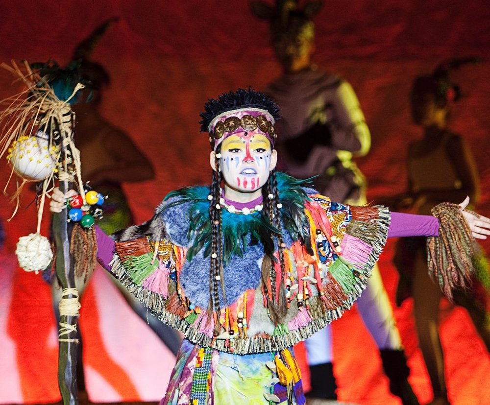 Megan Boggs as Rafiki in PACK's Disney's The Lion King Jr. Photo Credit: Lisa Shaw.