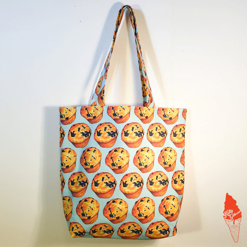 0cccf15319 Blueberry Muffin Pattern Tote Bag — Kelly Gilleran