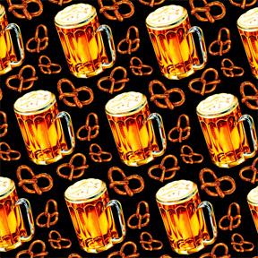 Beer & Pretzel - Black