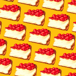 Cherry Cheesecake - Yellow