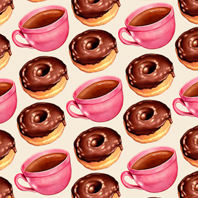 Coffee & Chocolate Donuts