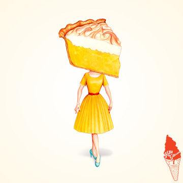 """Cake Head Pin-Up: Lemon Meringue"" 2018."