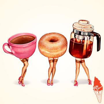 """Perked Up! Coffee Girls"" 2018."
