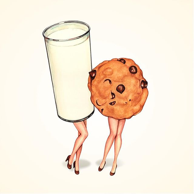 """Best friends 🥛🍪! """"Milk & Cookie Girls"""" now available on @redbubble"""