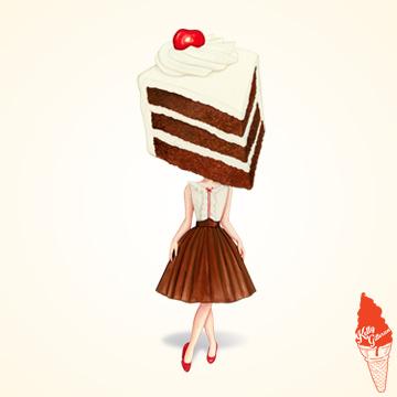 """""""Cake Head Pin-Up: Chocolate Cherry"""" 2019"""
