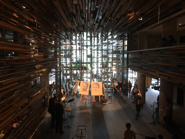 Live Art Performance in collaboration with Nexas Quartet / Hotel Hotel Grand Stair / Art Not Apart Festival / NewActon 2017