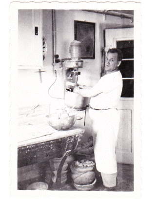 Bernhard at his bakery 1957
