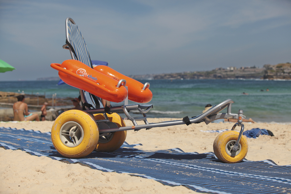 Mobi-Chair (and Mobi-Mat) on Bondi Beach, Sydney, Australia