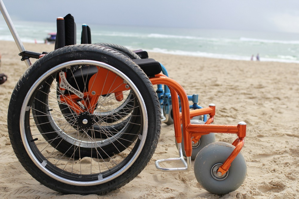 The Lasher Sport BT Beach Wheelchair