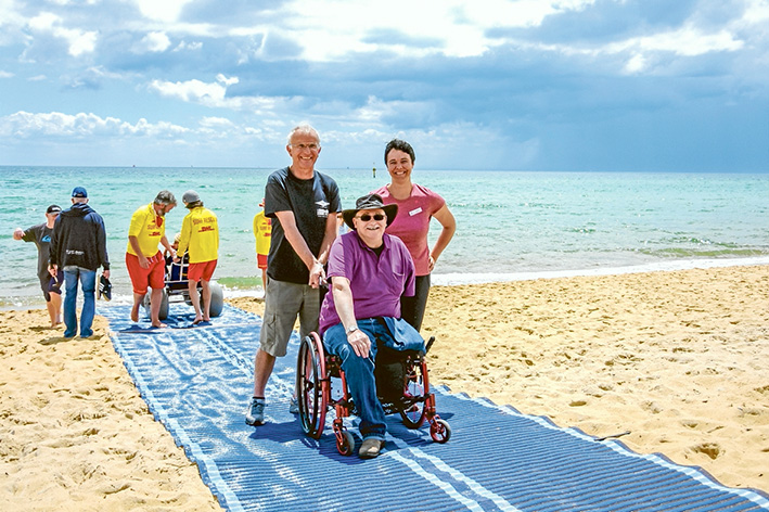 MT MARTHA BEACH   Mornington Peninsula -   Features  Accessible Beach Accessible Bathroom Accessible Shower Accessible Change Room Sandcruiser Beach Wheelchair Sandpiper Kids Beach Wheelchair Hippocampe Beach Wheelchair