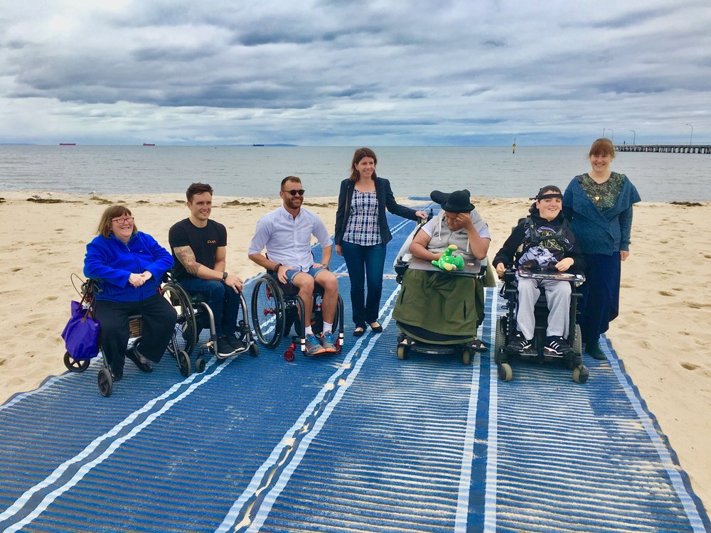 ALTONA BEACH   22 mins west of Melbourne -   Features  24x7 Accessible Beach Matting Sandcruiser Beach Wheelchair Mobi-Chair Beach Wheelchair Accessible Bathroom Accessible Shower Accessible Change Room Accessible Parking