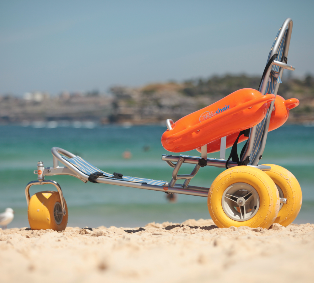 SEACLIFF BEACH  Adelaide Beaches -   Features  Mobi-Chair Floating Beach Wheelchair Slat Type Access Platform
