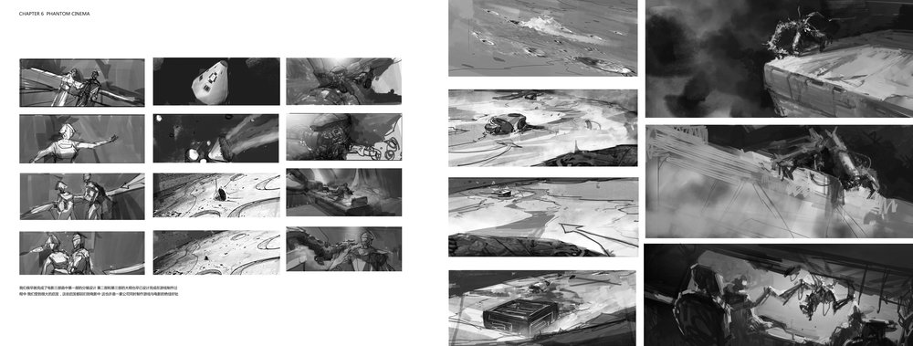 storyboard from movie trilogy phantom